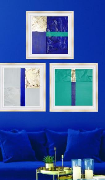 Posters Triptyque Abstraits - Trio de passions