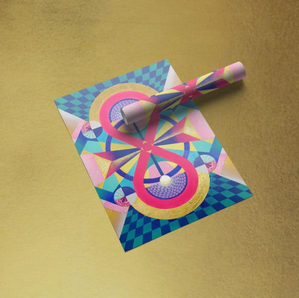 Poster Abstrait - Envoûtement Coloré