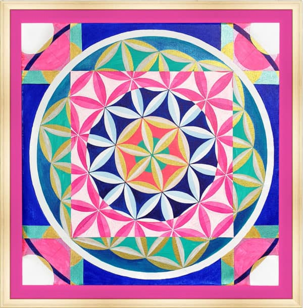 Tableau Abstrait - Fleur de Vie