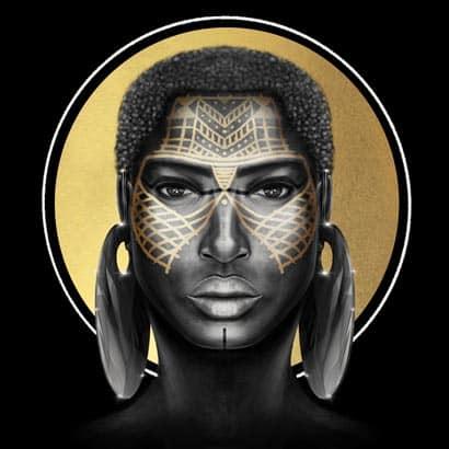 Tableau Portrait - Cumba la guerrière massaï