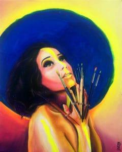 tableau artiste déco portrait femme