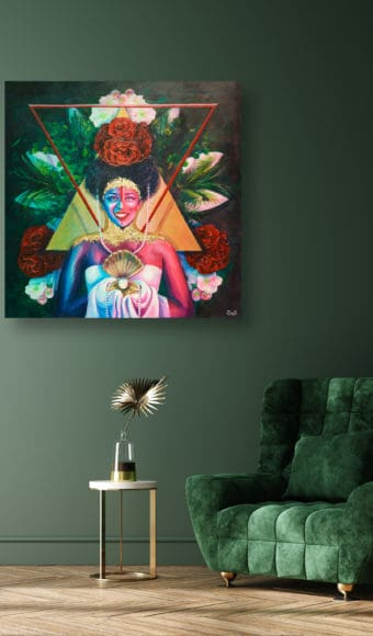Tableau Portrait - Reine Maya
