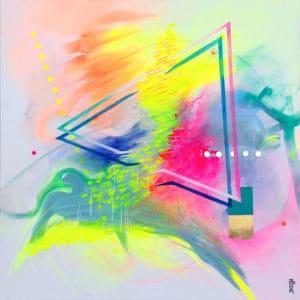 tableau artiste déco abstrait douce accalmie collection éveil