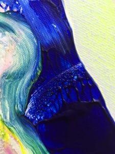détail texture acrylique tableau artiste déco abstrait transmutation collection éveil