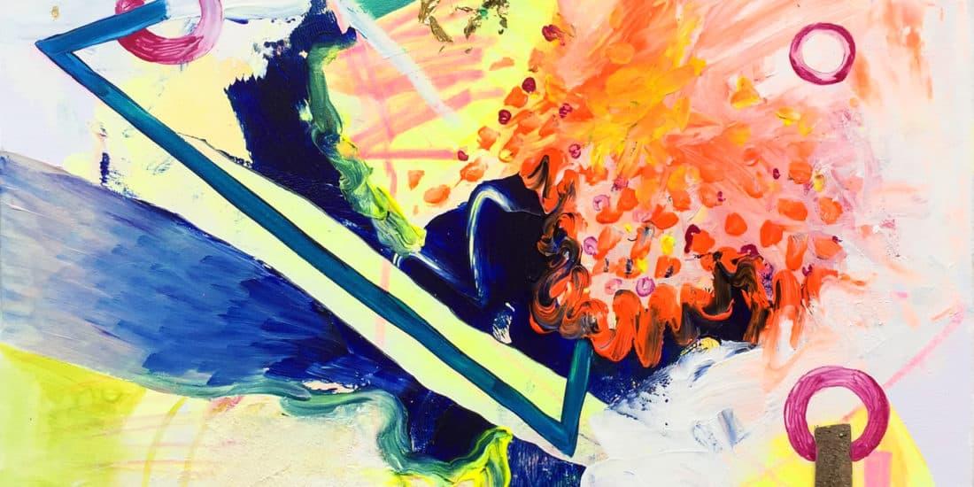 tableau artiste déco abstrait transmutation collection éveil
