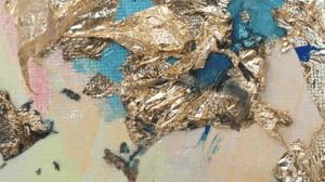 détail texture feuille d'or tableau déco artiste transmutation collection éveil