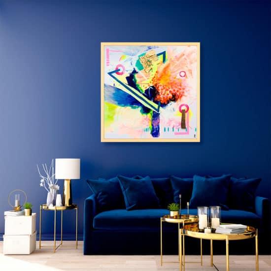 décoration intérieur tableau artiste abstrait transmutation collection éveil