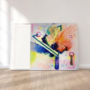tableau artiste déco abstrait transmutation collection éveil reproduction cadre effet toile