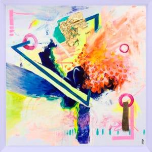 tableau artiste déco abstrait transmutation œuvre originale collection éveil