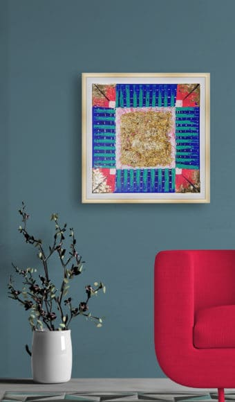 Tableau Abstrait - Géométrie brute