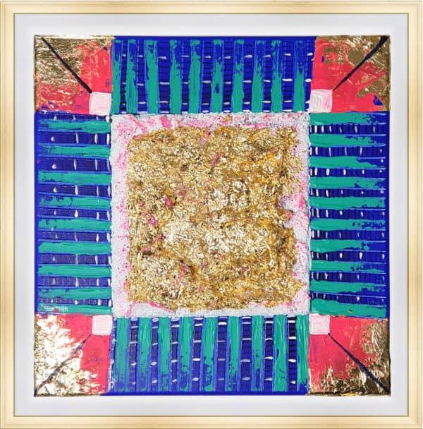 Tableau Abstrait 40 x 40 cm - Géométrie brute
