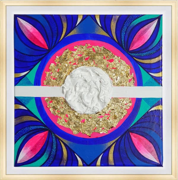 Tableau Abstrait 30 x 30 cm - Harmonie scintillante