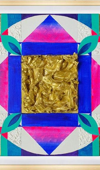 Tableau Abstrait - Vibrations sacrées