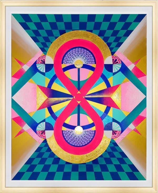 Tableau Abstrait - Envoûtement Coloré