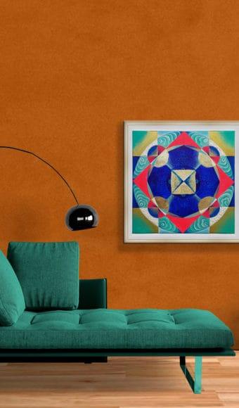 Poster Abstrait - Hypnotiques Vibrations- 40 x 40 cm