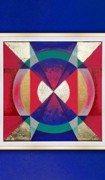 Tableau Abstrait 30 x 30 cm - Psychédéliques Vibrations