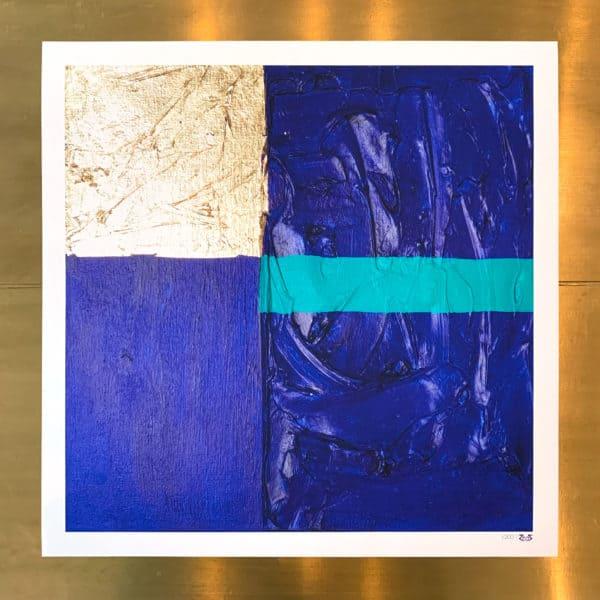 Poster Édition limitée - Abstrait : Passion Outremer- 40 x 40 cm