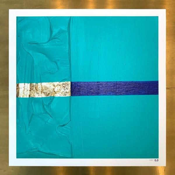Poster Édition limitée - Abstrait : Passion Turquoise- 40 x 40 cm