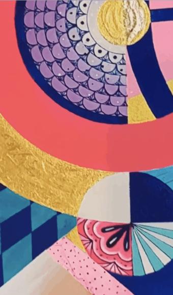 Poster Édition limitée - Abstrait : Envoûtement Coloré