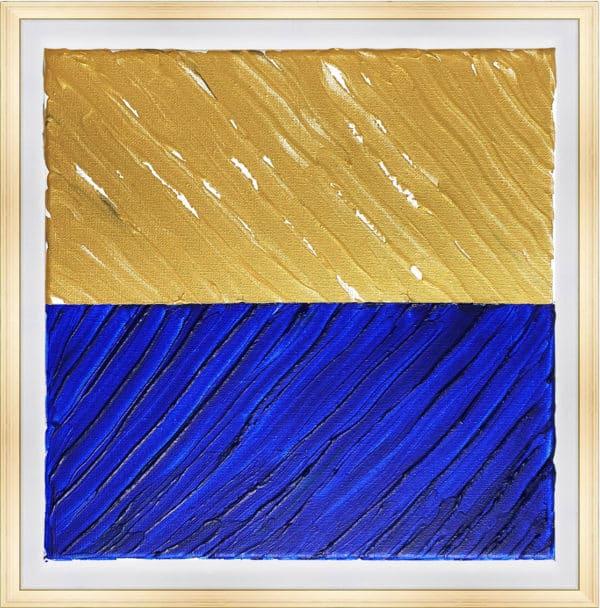 Tableau Abstrait - Double Sens Outremer et Or
