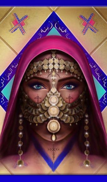 Tableau Portrait - Zina l'Algérienne