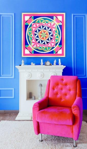 Poster Abstrait - Fleur de Vie