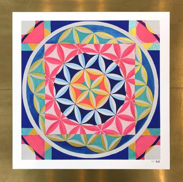 Poster Édition limitée - Abstrait : Fleur de Vie