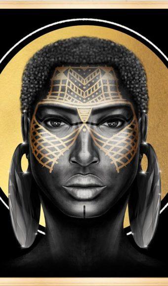 Tableau print - Portrait : Cumba la guerrière massaï