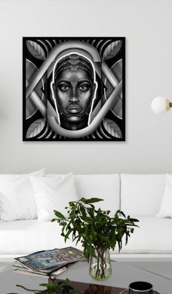 Poster Portrait Noir et Blanc - Moussa