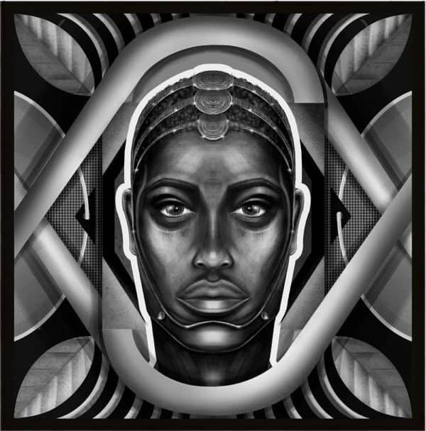 Tableau Portrait Noir et Blanc - Moussa