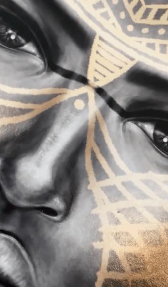 Poster Édition limitée - Portrait : Cumba la guerrière massaï