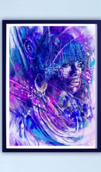 Poster Édition limitée - Portrait : Zakaria