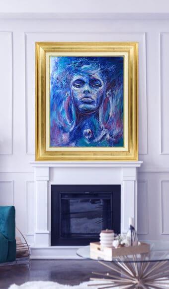 Tableau Portrait 120 x 100 cm- Aya Force de vie
