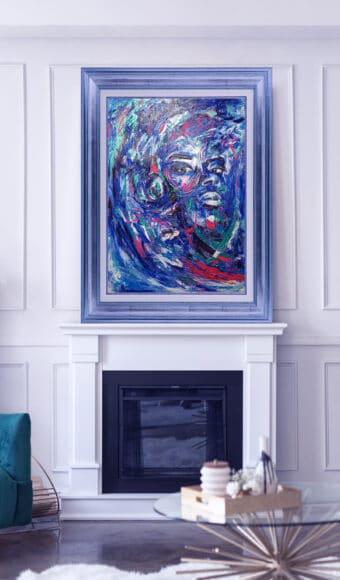 Tableau Portrait 70 x 100 cm - Boubakar le Digne