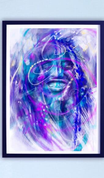 Poster Édition limitée - Portrait : Le sourire de Fatou