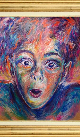 Tableau Portrait 120 x 100 cm - Life