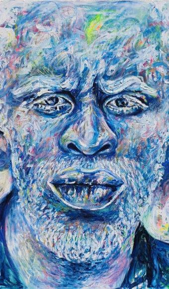 Tableau Portrait 120 x 100 cm - Jewel Jeffrey / L'homme Pâle